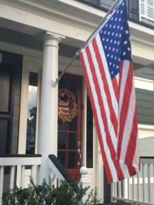 American Flag at home