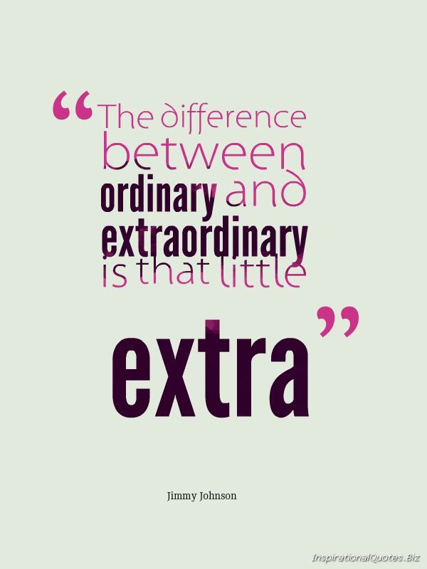 Extraordinary vs. Extra Ordinary